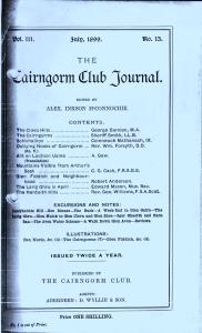 Cairngorm Club Journal 001