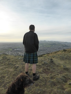 kilt and dog
